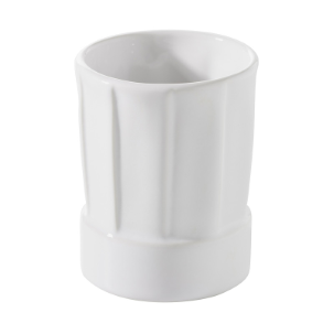 MINI CHEF HAT - WHITE - DIAM. 4.5 CM H. 5.8 CM