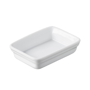 MINI RECTANGULAR DISH 2 CL - WHITE - 7 X 5 X 2 CM