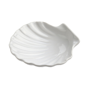 MINI SCALLOP SHELL 2 CL - WHITE - DIAM. 7 CM H. 2 CM