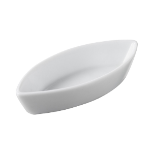 MINI CALISSON DISH 2 CL - WHITE - 9.5 X 4 X 2 CM