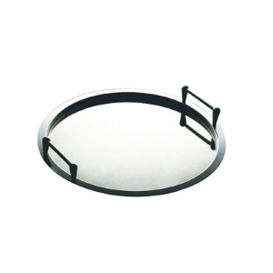 ROUND TRAY WITH STACKABLE HANDLES